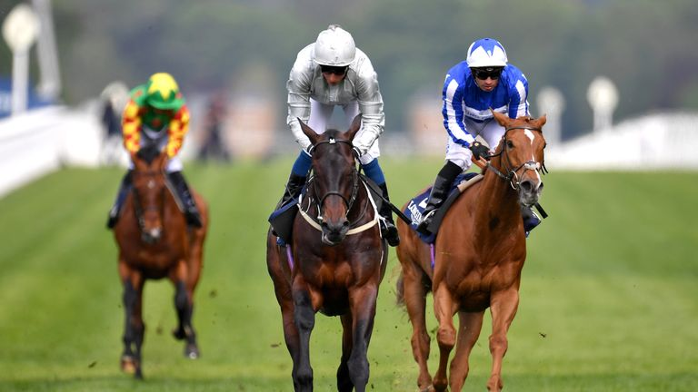 Dee Ex Bee wins the Sagaro Stakes at Ascot