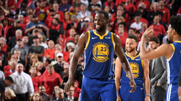 Draymond Green in action during the Golden State Warriors' Game 4 victory over the Portland Trail Blazers
