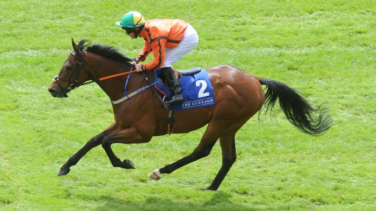 Hathiq and Rory Cleary win the Curragh Official Opening Day Handicap