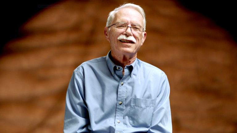 Jim Naismith, grandson of inventor of basketball Dr James Naismith, explains his family's Scottish heritage and his trademark moustache.