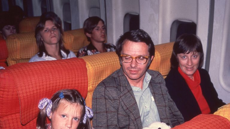 Jim Naismith and family en route to Scotland in 1979- photo courtesy of Naismith family archive