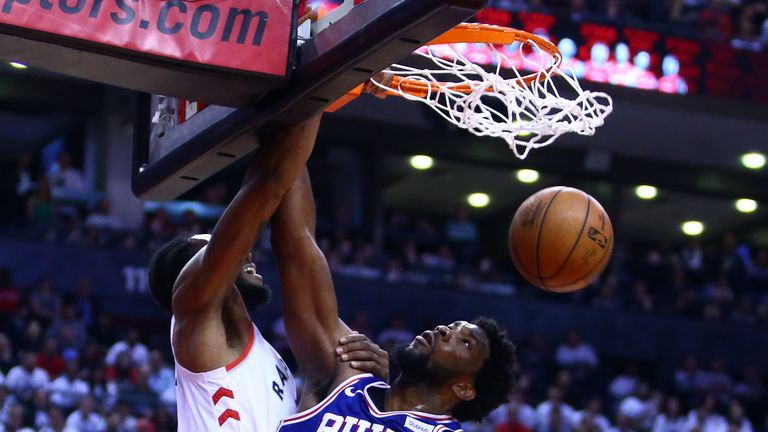 Kawhi Leonard posterizes Joel Embiid in the Raptors' Game 5 win