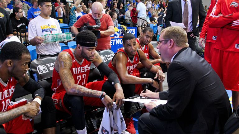 Nurse coaching the Rio Grande Valley Vipers in the 2013 D-League Championship
