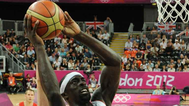 Pops Mensah-Bonsu in action for Team GB at London 2012