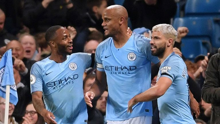 Highlights from Manchester City's 1-0 win over Leicester in the Premier League