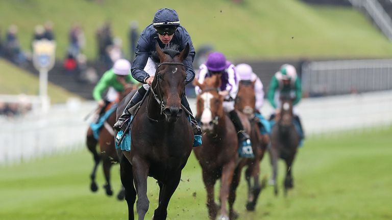 Sir Dragonet ridden by Donnacha O'Brien wins The MBNA Chester Vase