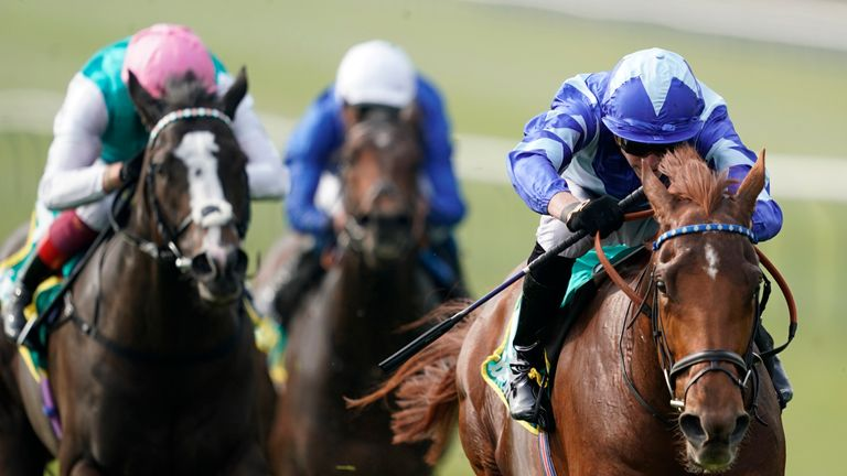Skardu wins the Bet365 Craven Stakes at Newmarket