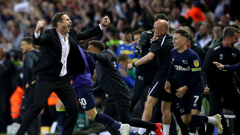 Lampard guided Derby to the Championship play-off final