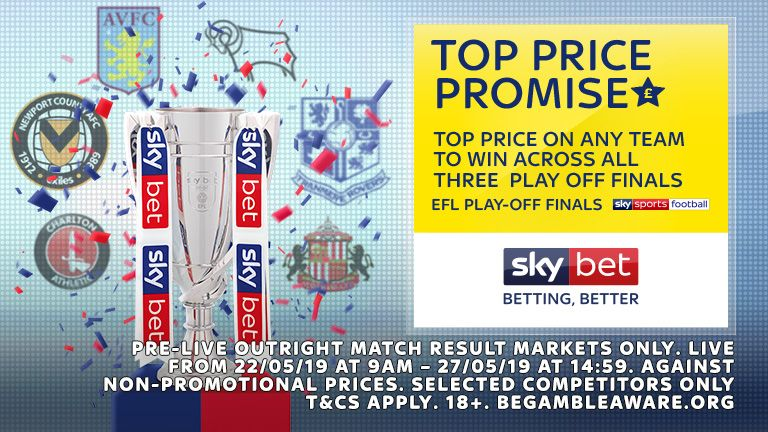 Top Price Promise - EFL Play-Off Finals