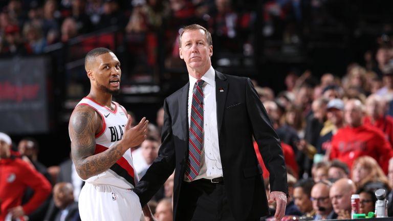 Terry Stotts has formed a strong relationship with the Blazers' All-Star guard Damian Lillard