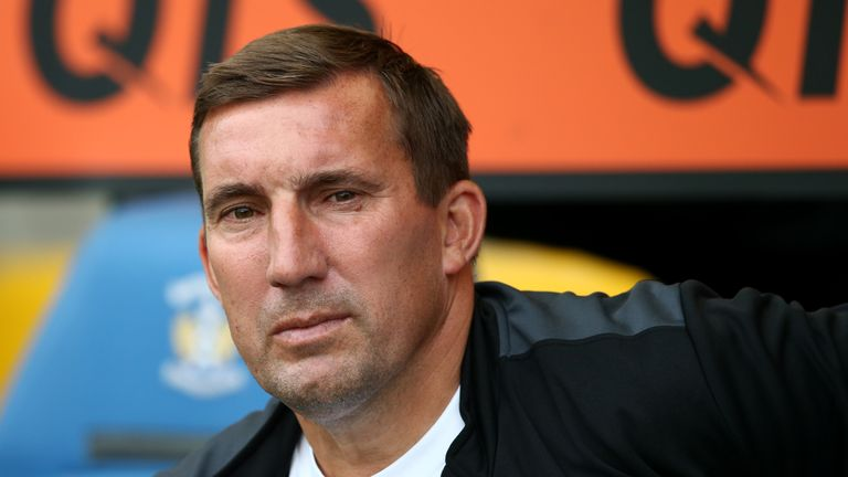 St Mirren manager Alan Stubbs looks on during the Betfred Scottish League Cup match between Kilmarnock and St Mirren at Rugby Park on July 13, 2018 in Kilmarnock, Scotland.