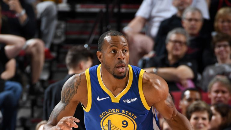 Andre Igoudala left Game 3 of the Western Conference Finals with an injury.