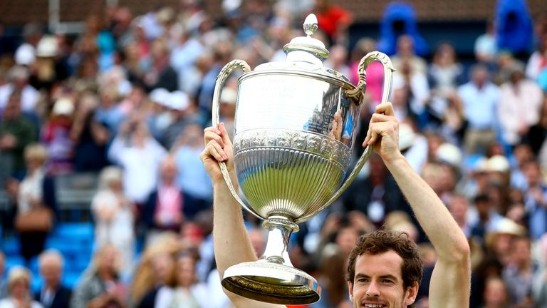 Andy Murray last won the Queen's Club singles title in 2016, beating Milos Raonic in the final