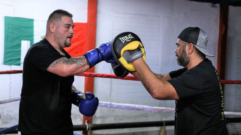 Ruiz Jr has prepared for his title shot with trainer Manny Robles