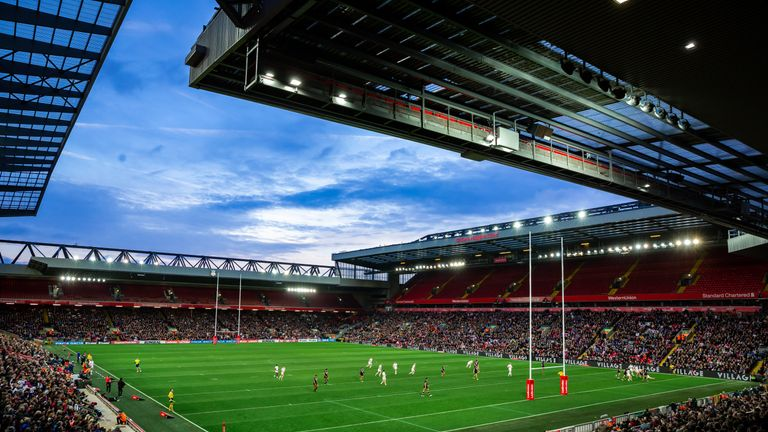 Picture by Alex Whitehead/SWpix.com - 04/11/2018 - Rugby League - England vs New Zealand, Second Test - Anfield, Liverpool, England - A General View (GV)