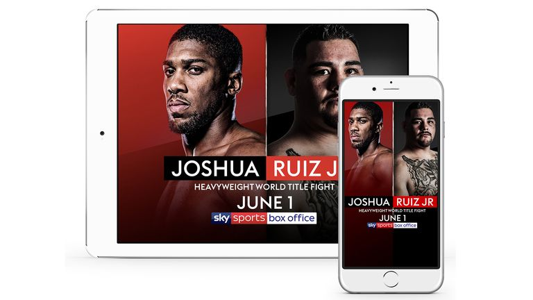 Joshua vs Ruiz Jr - Ways to Watch (iPad and iPhone)