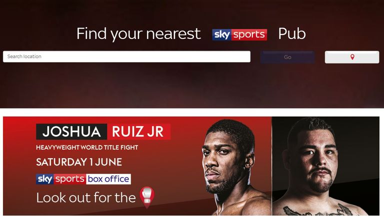 Anthony Joshua, Andy Ruiz Jr, Pubfinder