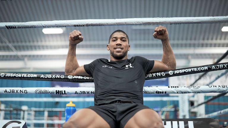 Anthony Joshua is preparing for US debut against Andy Ruiz Jr