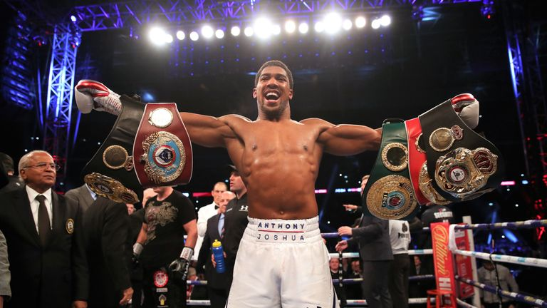 Anthony Joshua defends his world titles on June 1, live on Sky Sports Box Office