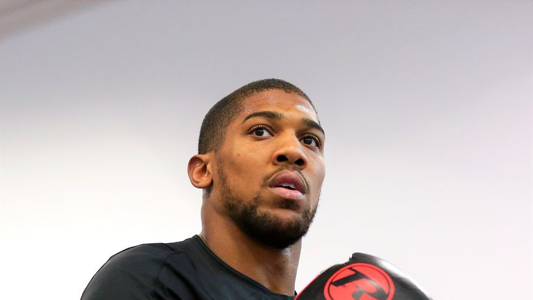 Anthony Joshua will be fine tuning his technical skills in sparring