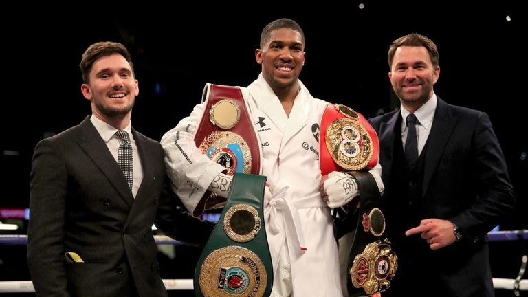 Joshua's career has been guided by manager Freddie Cunningham and promoter Eddie Hearn