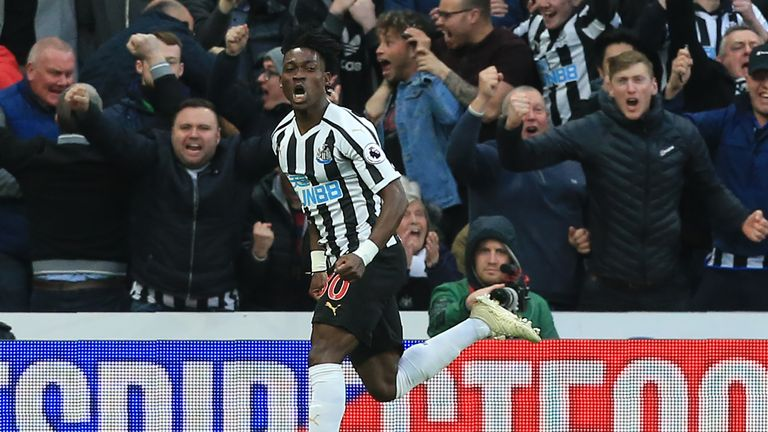 Christian Atsu levelled for Newcastle against Liverpool