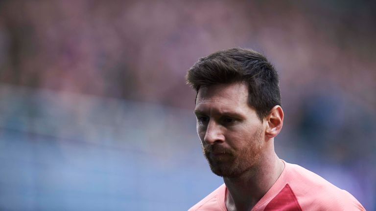 Lionel Messi scored twice for Barcelona but their La Liga campaign finished with a disappointing draw