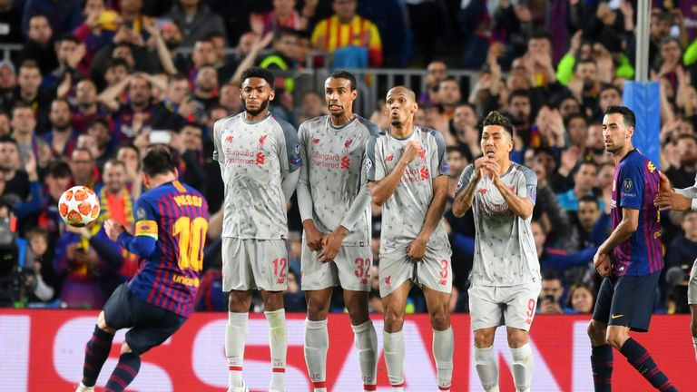 Lionel Messi scored a sensational free kick against Liverpool