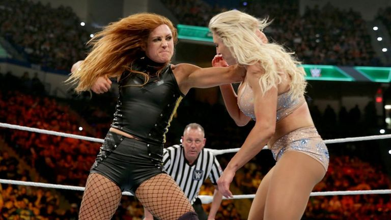 Becky Lynch lost her SmackDown title to Charlotte Flair so can now fully focus on Raw - and Lacey Evans
