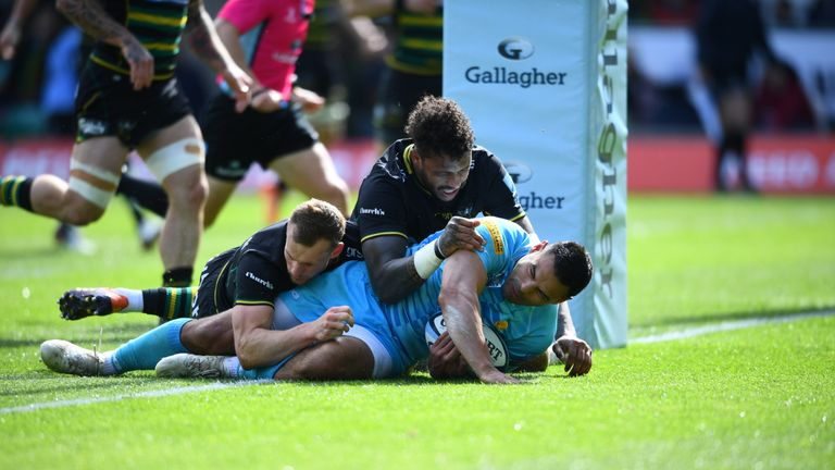 Ben Te'o got Worcester's only try against Northampton