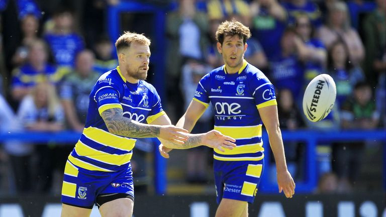 Blake Austin was back in action for Warrington after nearly a month out injured
