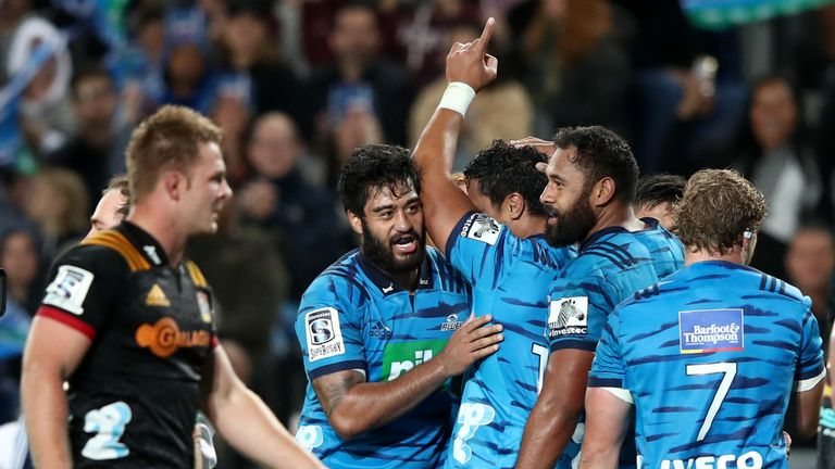 The Blues notched four tries in a comfortable success