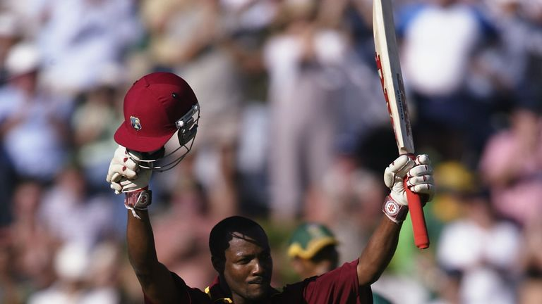 Brian Lara scored a crucial century as West Indies won a close game against South Africa in 2003
