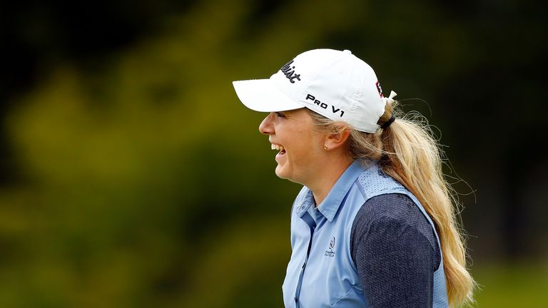 Law made five birdies in six holes during her final round