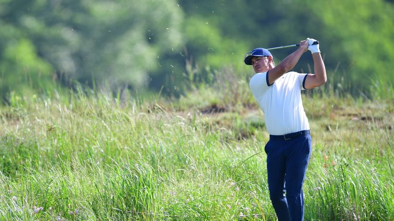 Koepka carded eight birdies on a course he has never player competitively before