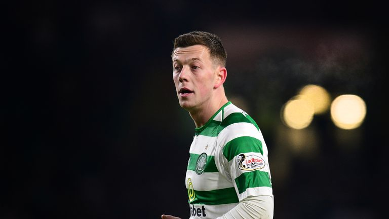 Callum McGregor of Celtic in action during the Ladbrokes Scottish Premiership match between Celtic and St Mirren at Celtic Park on January 23, 2019 in Glasgow, Scotland.