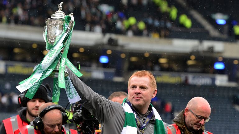 Neil Lennon has been offered the Celtic job on a permanent basis after beating  Hearts in the Scottish Cup final.