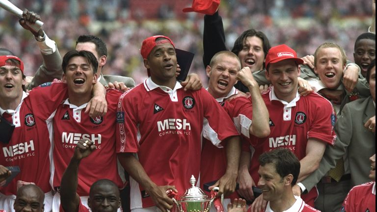 Charlton won the 1998 Division One play-off final against Sunderland