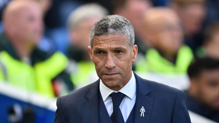 Hughton was Brighton manager for four-and-a-half years