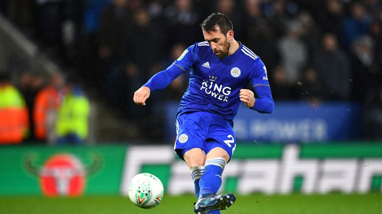 Leicester's Christian Fuchs joined the club in 2015