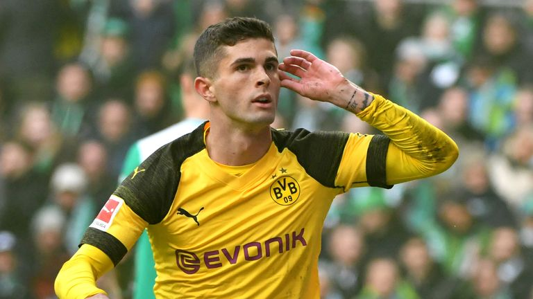 Pulisic has scored twice in his last two games as Dortmund chase the Bundesliga