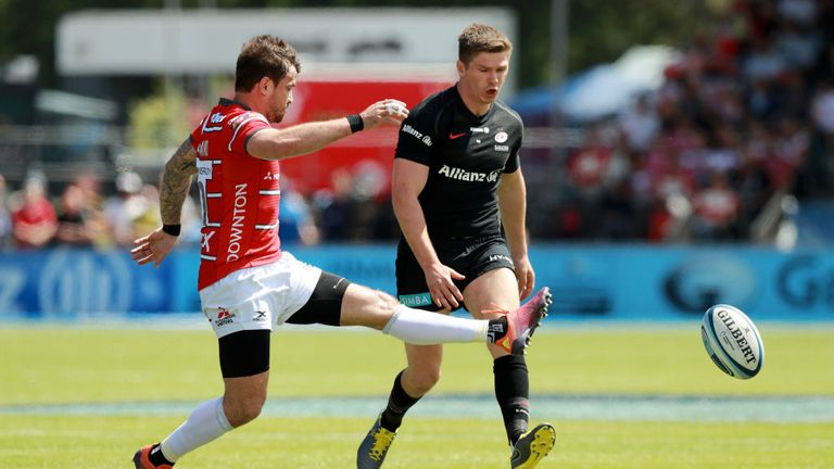 Danny Cipriani's Gloucester came off second best against Owen Farrell's Saracens