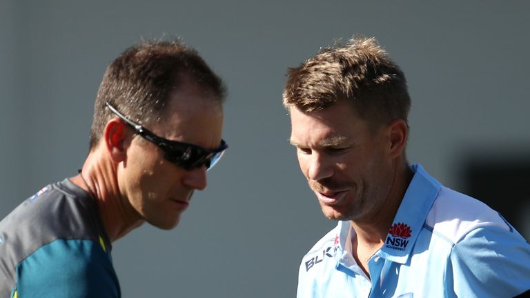 Australia coach Justin Langer (left) is a real father figure, says Steve Waugh