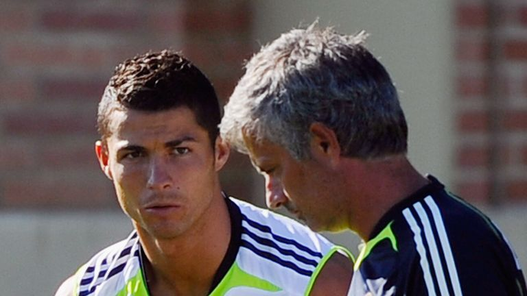 Cristiano Ronaldo and Jose Mourinho worked together at Real Madrid