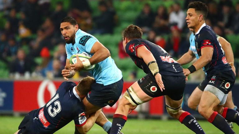 Curtis Rona was among the try-scorers for the Waratahs