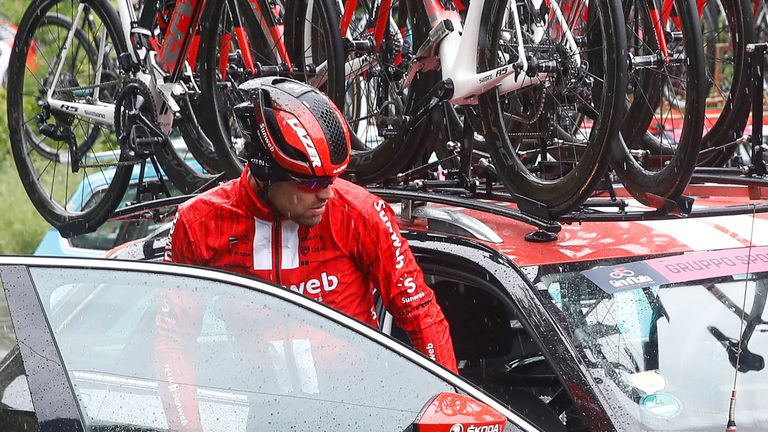2017 Giro d'Italia champion abandoned the 2019 race on stage five after failing to recover from a knee injury suffered a day earlier
