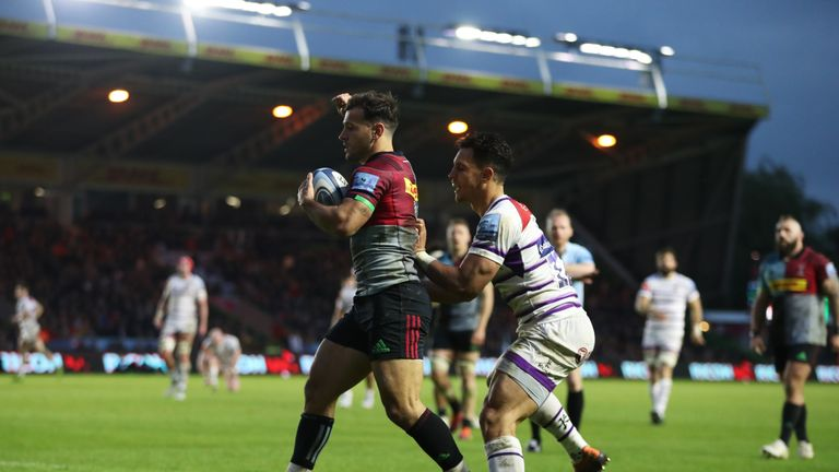 Danny Care got Harlequins' first try against Leicester on his return to the side