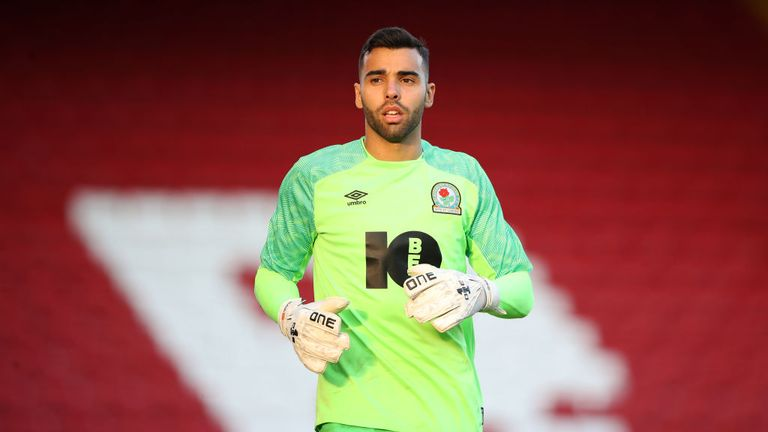 Blackburn goalkeeper David Raya
