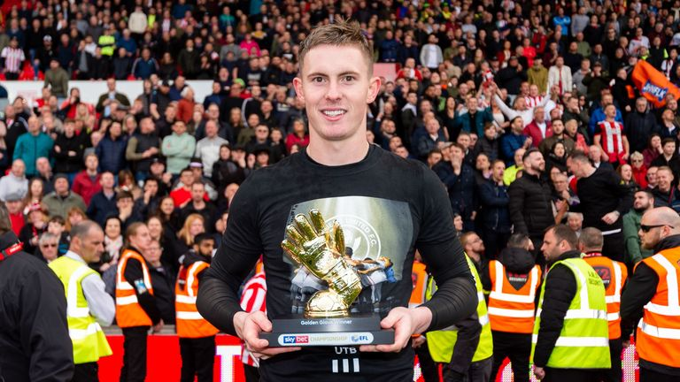 Dean Henderson of Sheffield United kept 21 clean sheets this season