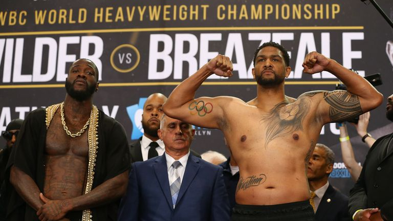 Breazeale will be the heavier man when they share a ring at the Barclays Center
